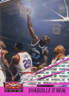 1993 Stadium Club Beam Team Members Only Shaquille O'Neal #1 Basketball Card