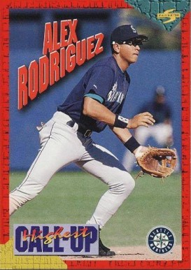 1994 Score Rookie/Traded Highest Call Up Alex Rodriguez #1 Baseball Card