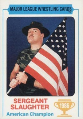 1986 Carnation Major League Wrestling Sergeant Slaughter # Boxing & Other Card
