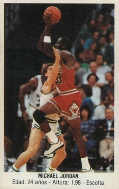 1987 Merchante Spanish Stickers Michael Jordan #146 Basketball Card