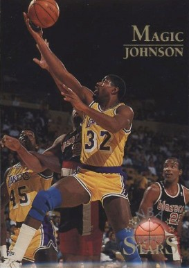 1996 Topps NBA Stars Magic Johnson #122 Basketball Card