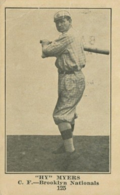 "1917 Collins-McCarthy ""Hy"" Myers #125 Baseball Card"