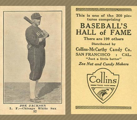 1917 Collins-McCarthy Joe Jackson #82 Baseball Card