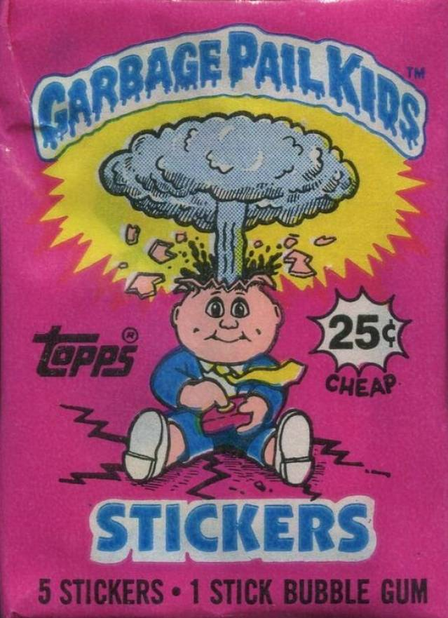 1985 Garbage Pail Kids Stickers Wax Pack #WPa Non-Sports Card