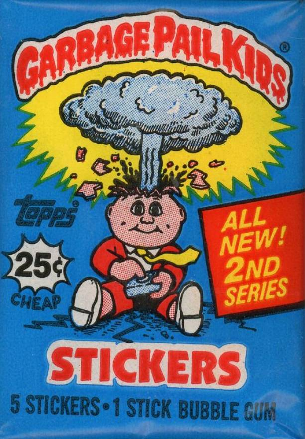 1985 Garbage Pail Kids Stickers Wax Pack #WPb Non-Sports Card