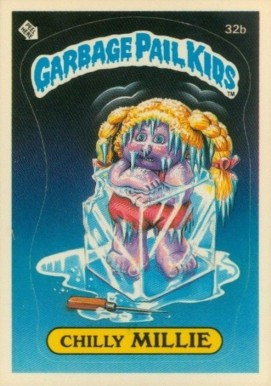 1985 Garbage Pail Kids Stickers Chilly Millie #32b Non-Sports Card