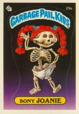 1985 Garbage Pail Kids Stickers Bony Joanie #29a Non-Sports Card
