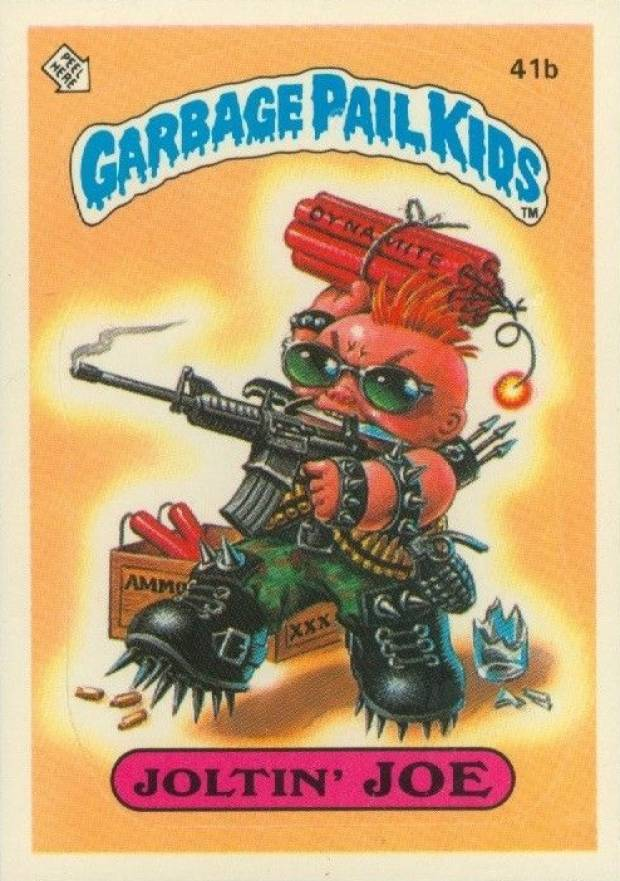 1985 Garbage Pail Kids Stickers Joltin' Joe #41b Non-Sports Card
