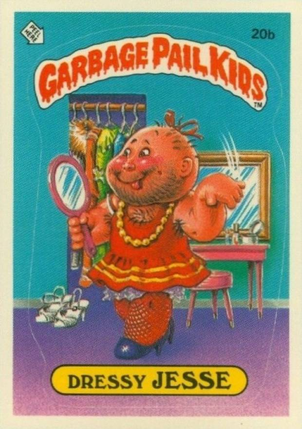 1985 Garbage Pail Kids Stickers Dressy Jesse #20b Non-Sports Card