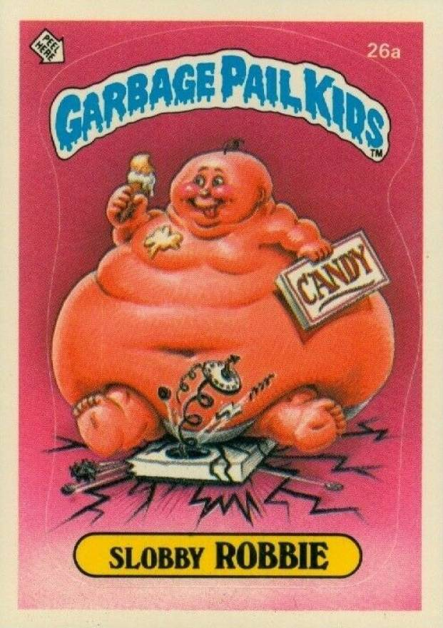 1985 Garbage Pail Kids Stickers Slobby Robbie #26a Non-Sports Card