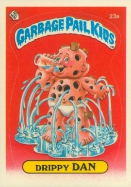 1985 Garbage Pail Kids Stickers Drippy Dan #23a Non-Sports Card