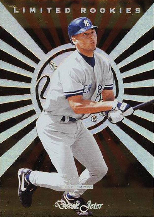1996 Leaf Limited Rookies Gold Derek Jeter #4 Baseball Card