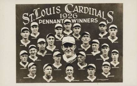 1920 Real Photo Postcard 1926 St. Louis Cardinals Team # Baseball Card