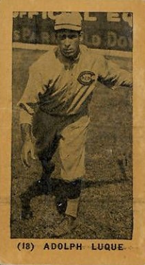 1927 York Caramels Adolfo Luque #18 Baseball Card