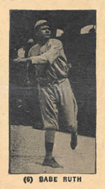 1927 York Caramels Babe Ruth #6 Baseball Card