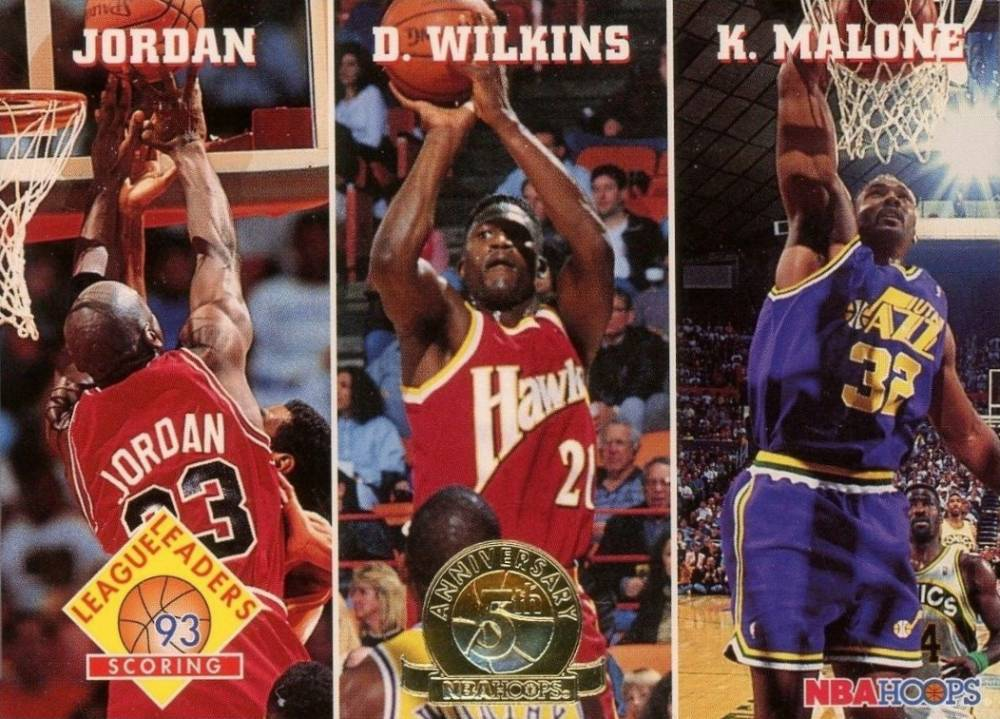 1993 Hoops 5th Anniversary Scoring League Leaders #283 Basketball Card
