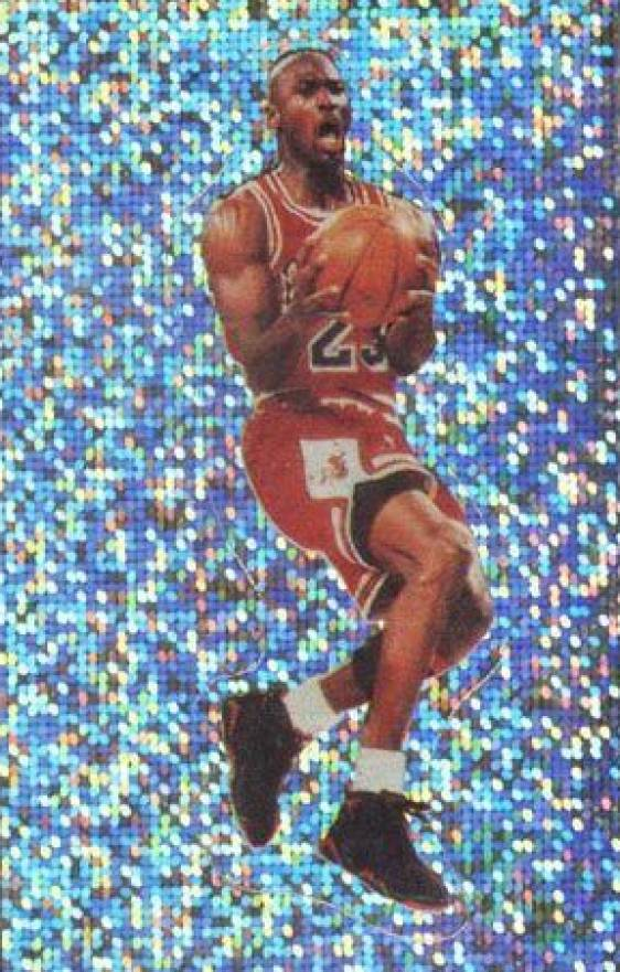 1992 Panini Sticker Michael Jordan #102 Basketball Card