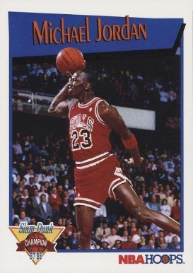 1991 Hoops Slam Dunk Michael Jordan #4 Basketball Card