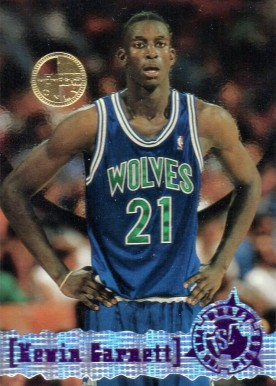 1995 Stadium Club Members Only Kevin Garnett #343 Basketball Card