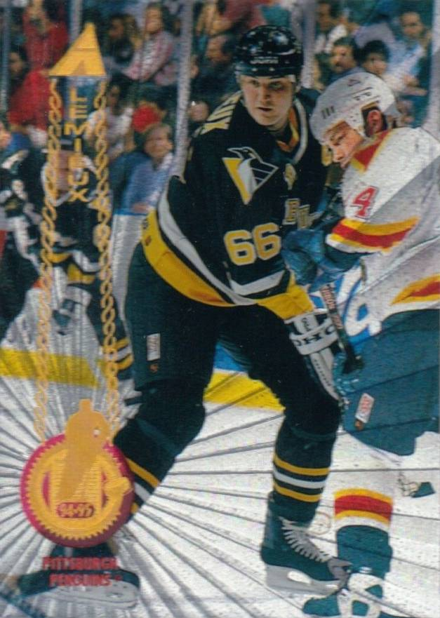 1994 Pinnacle Rink Collection Mario Lemieux #170 Hockey Card
