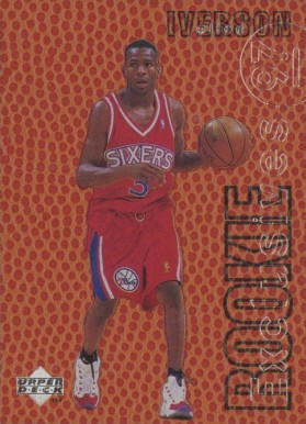 1996 Upper Deck Rookie Exclusives Promo Allen Iverson #1 Basketball Card