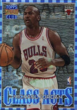 1996 Stadium Club Class Acts Refractors Michael Jordan #1 Basketball Card