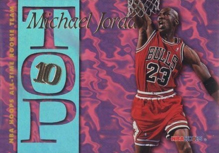 1995 Hoops Top 10 Michael Jordan #7 Basketball Card