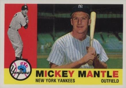 1996 Topps Mantle Redemption Mickey Mantle #1960 Baseball Card