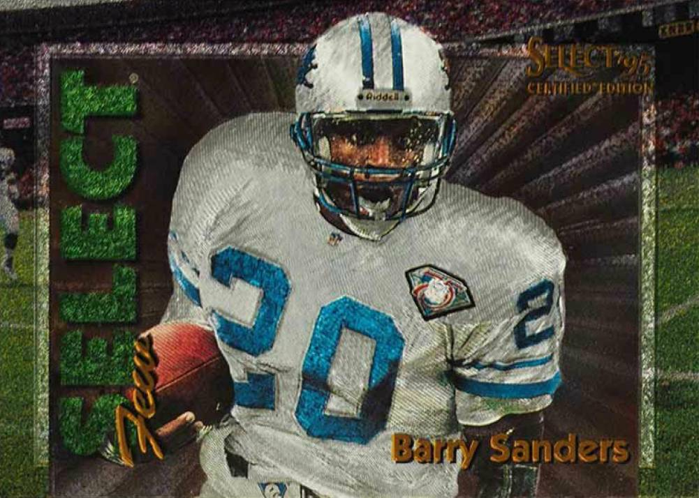 1995 Select Certified Select Few Barry Sanders #4 Football Card
