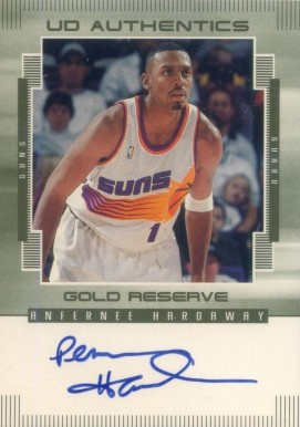 1999 UD Gold Reserve Authentics Anfernee Hardaway #AH Basketball Card