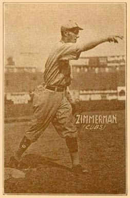 1914 Texas Tommy (Type 1) Heinie Zimmerman #52 Baseball Card