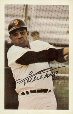 1971 Ticketron S.F. Giants Willie Mays #7 Baseball Card