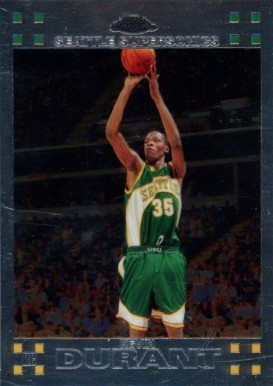 2007 Topps Chrome Kevin Durant #131 Basketball Card