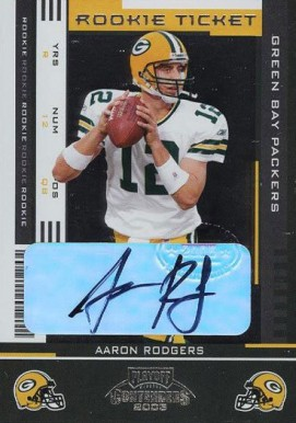 2005 Playoff Contender Aaron Rodgers #101 Football Card