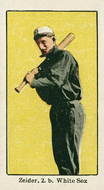 1910 American Caramel Chicago Rollie Zeider #21 Baseball Card