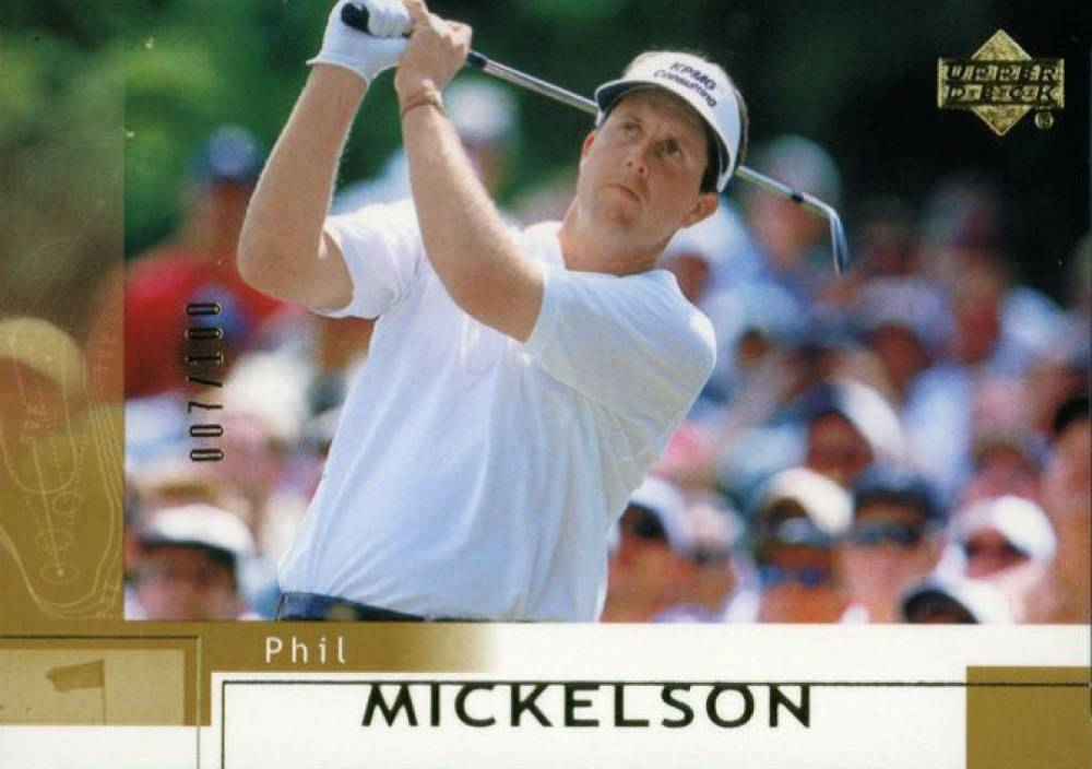2002 Upper Deck Golf Gold Phil Mickelson #41 Boxing & Other Card