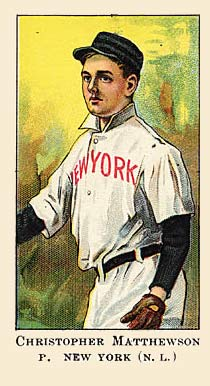 1908 American Caramel Christy Mathewson #13 Baseball Card