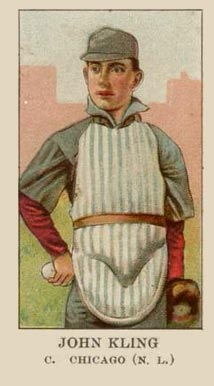 1908 American Caramel Johnny Kling #12 Baseball Card
