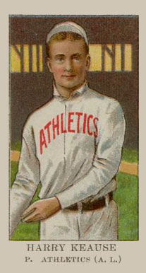 1909 American Caramel Harry Krause #17 Baseball Card