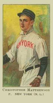 1909 American Caramel Christy Mathewson #19 Baseball Card