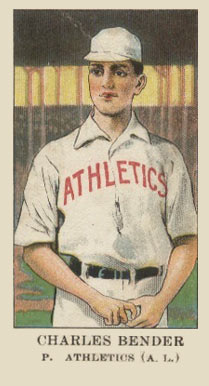1909 American Caramel Chief Bender #4 Baseball Card