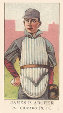 1909 American Caramel Jimmy Archer #1 Baseball Card