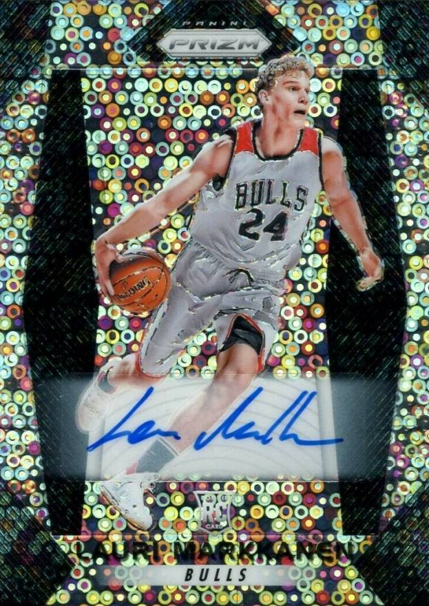 2017 Panini Prizm Fast Break Autographs Lauri Markkanen #247 Basketball Card
