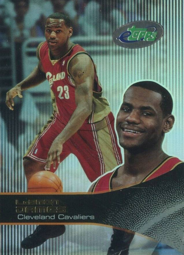 2003 E-Topps LeBron James #43 Basketball Card