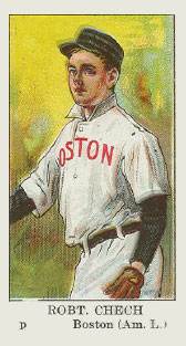 1910 American Caramel Robert Chech #3 Baseball Card