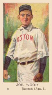 1910 American Caramel Joe Wood #33 Baseball Card