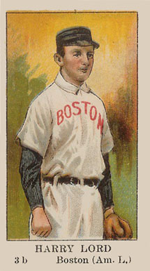 1910 American Caramel Harry Lord #17 Baseball Card