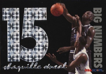 1994 Hoops Big Numbers Shaquille O'Neal #5 Basketball Card