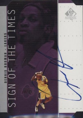 1998 SP Authentic Sign of the Times Silver Dennis Rodman #DR Basketball Card
