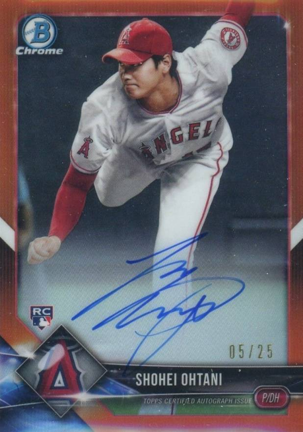 2018 Bowman Chrome Rookie Autograph Orange Refractor Shohei Ohtani #CRA-SO Baseball Card